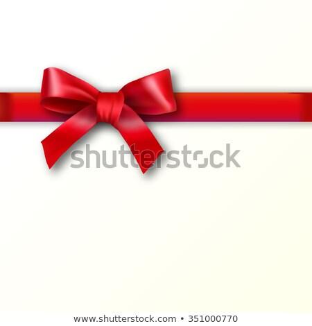 красный кремом лента счастливым Сток-фото © liliwhite