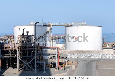Kék ásvány izolált fehér üveg háttér Stock fotó © jonnysek