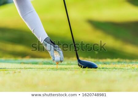 мяч для гольфа стороны белый женщины человеческая рука Сток-фото © simazoran