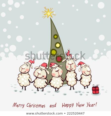 Ano novo cordeiro imagem natal brinquedo ouvido Foto stock © mayboro