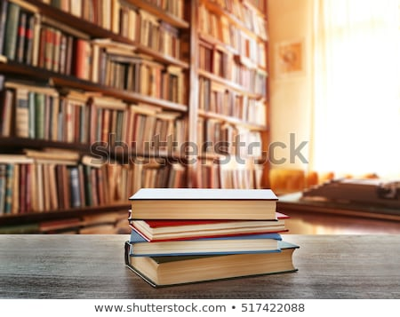 A stack of books on a table stock photo © Valeriy