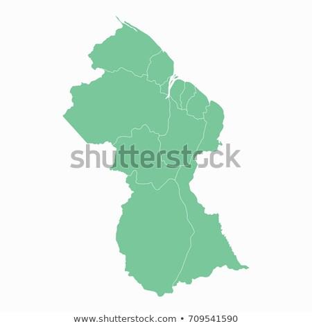 силуэта карта Гайана знак белый Сток-фото © mayboro