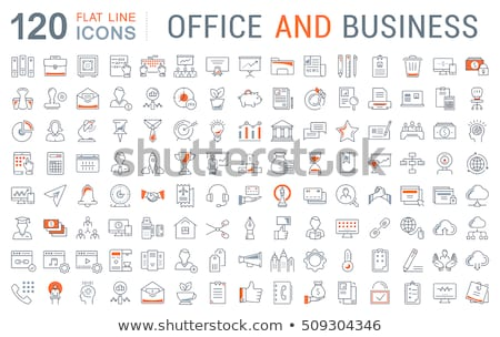 Vector Flat Icons Design about Traveling, Shopping, Working. stock photo © thanawong