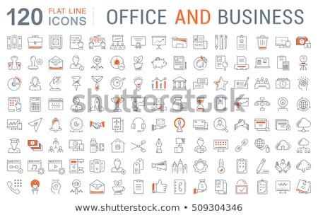 Vektör simgeler dizayn alışveriş çalışma Stok fotoğraf © thanawong