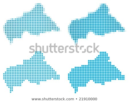 Map of Central African Republic with with Dot Pattern Stock photo © Istanbul2009