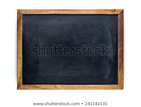Houten frame geïsoleerd textuur school witte Stockfoto © ozaiachin