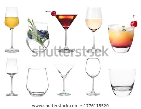 Lege wijnglas glas fles zwarte witte Stockfoto © wxin