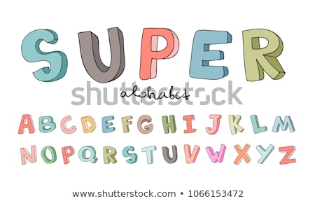 grunge · stílus · ábécé · számok · levelek · gyűjtemény - stock fotó © davidarts