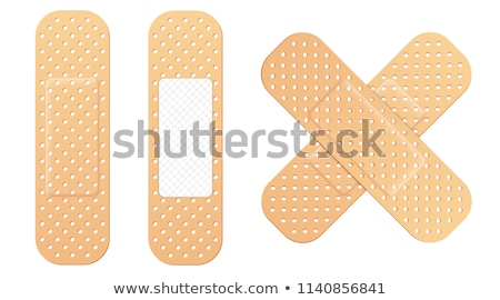 Yapışkan sıva doku çapraz turuncu tıp Stok fotoğraf © ozaiachin
