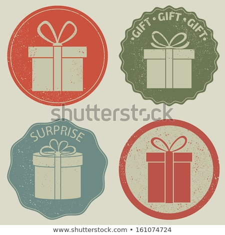 retro gift box with bow eps 8 stock photo © beholdereye