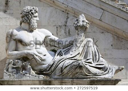 Statue del Tevere in Rome, Italy Stock photo © vladacanon