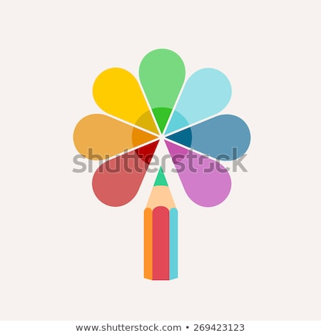 vector logo pencil paint for creativity Stock photo © butenkow