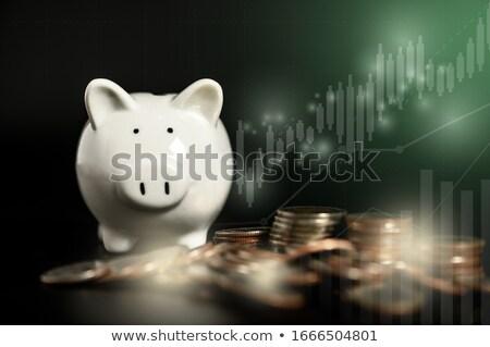 geld · piramide · landen · geïsoleerd · witte - stockfoto © janpietruszka