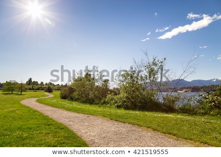 Walking at a winding footpath Stock photo © olandsfokus