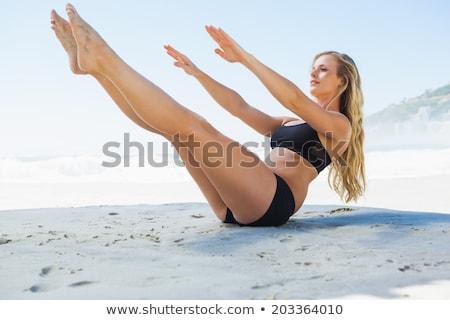 Dopasować rdzeń równowagi pilates stanowią Zdjęcia stock © wavebreak_media
