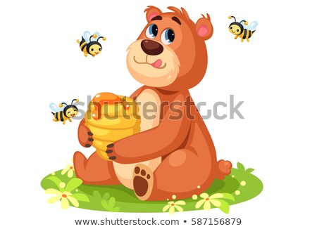 bear with beehive Stock photo © adrenalina