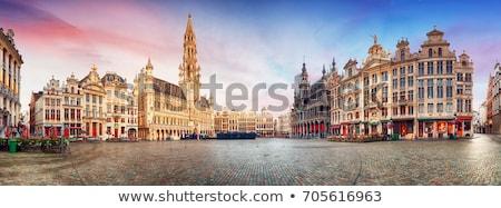 Brüsszel Belgium Európa vízfesték művészet nyomtatott Stock fotó © chris2766