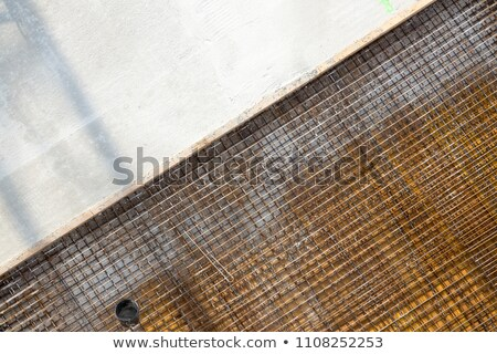 Concrete baseplate on a construction site Stock photo © pixpack