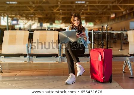 Utazás üzenet laptop fehér iroda terv Stock fotó © fuzzbones0