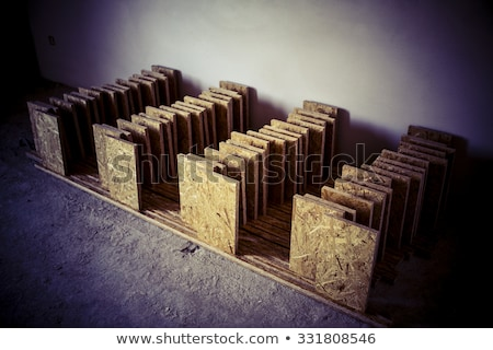 support panel from OSB board - diy holder for insulation Stock photo © jarin13