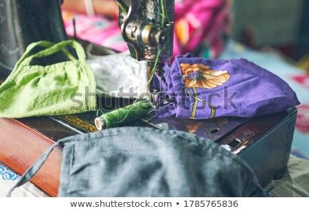 Doek naaimachine weefsel machine staal horizontaal Stockfoto © imagedb