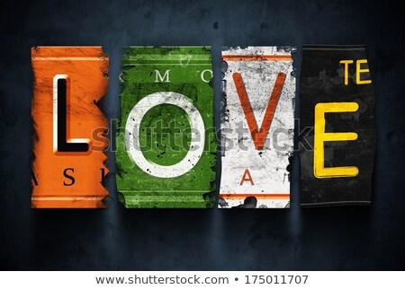 Crashed love, word broken Stock photo © netkov1