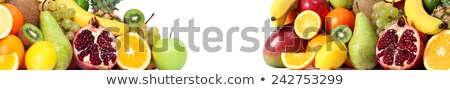 Food fruits both side banner Stock photo © leventegyori