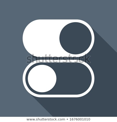Power Slider Icon. Flat Design. Long Shadow. Stock photo © WaD