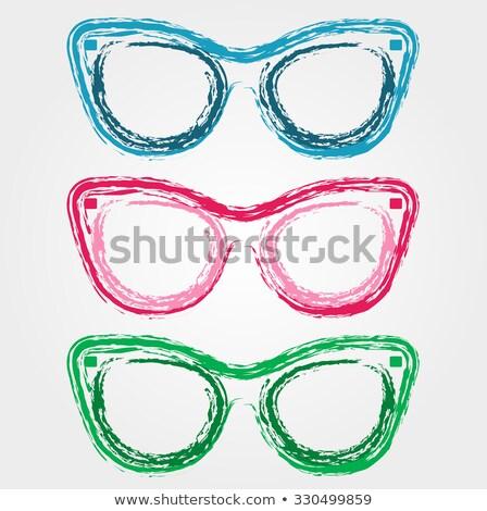 Kolorowy okulary pastel okulary kamień retro Zdjęcia stock © shawlinmohd