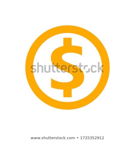 Znak dolara żółty wektora ikona przycisk projektu Zdjęcia stock © rizwanali3d