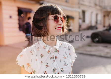 Güzel kafkas kız sevimli pembe Stok fotoğraf © handmademedia