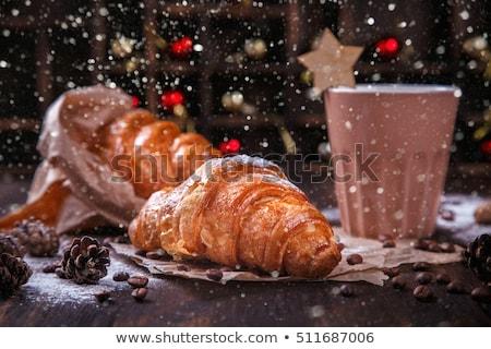 Christmas and New Year chocolate cake Stock photo © stevanovicigor