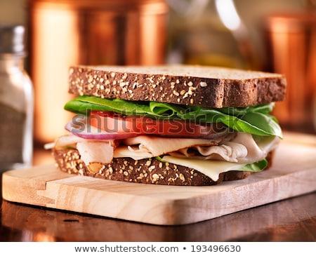 Türkiye peynir domates marul sandviç soğan Stok fotoğraf © rojoimages