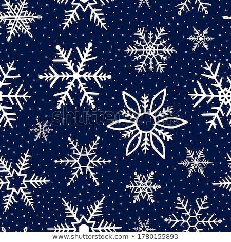 karácsony · vektor · hópehely · koszorú · terv · kék - stock fotó © alexmakarova