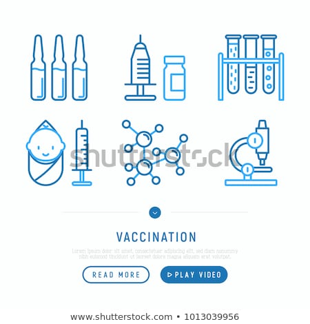 Medici siringa isolato blu vetro sfondo Foto d'archivio © Klinker