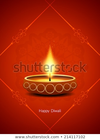 Stock photo: artistic red diwali background