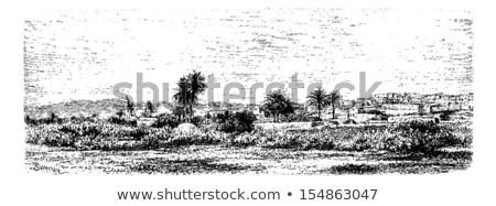oude · arab · stad · gestileerde · oude · midden - stockfoto © morphart