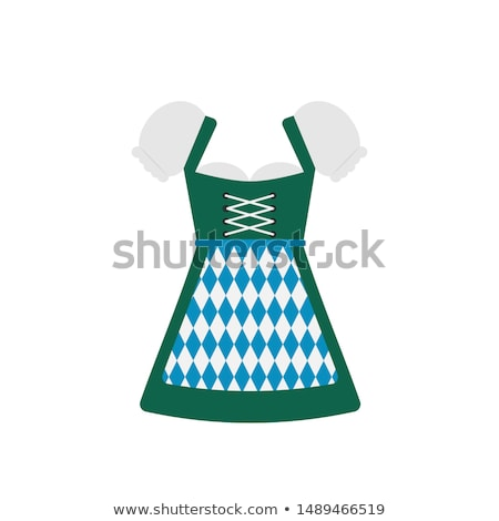 woman in bavarian costume with poster isolated on white stock photo © elnur