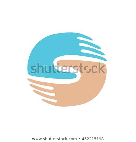 Parmaklar işadamı logo tasarımı birlikte sendika simge Stok fotoğraf © chatchai5172