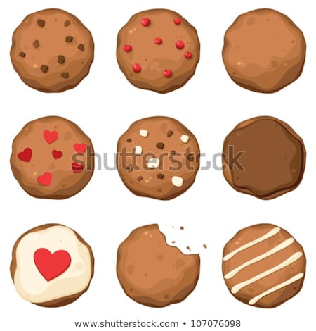 vector set of chocolate chip cookies of different shapes stock photo © freesoulproduction