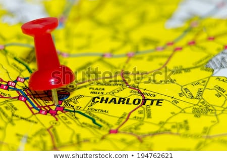 charlotte qc city pin on the map Stock photo © alex_grichenko
