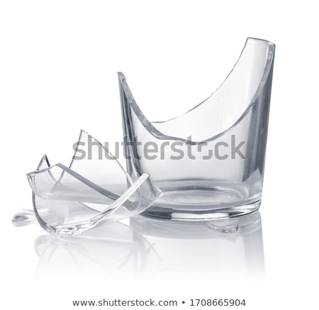 сломанной · рюмку · изолированный · белый · стекла · концепция - Сток-фото © magann