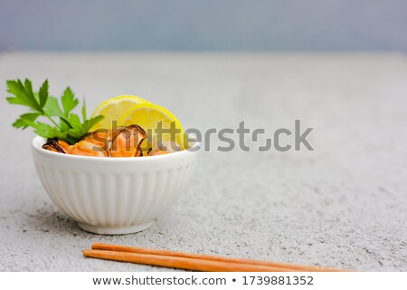 mussels with lemon isolated Stock photo © Antonio-S