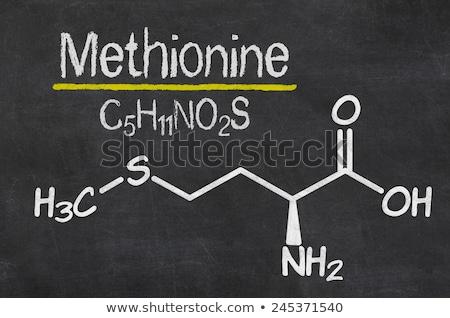 Pizarra químicos fórmula medicina escrito negro Foto stock © Zerbor