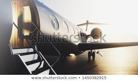 3D レンダリング 航空機 市 建物 ストックフォト © alphaspirit
