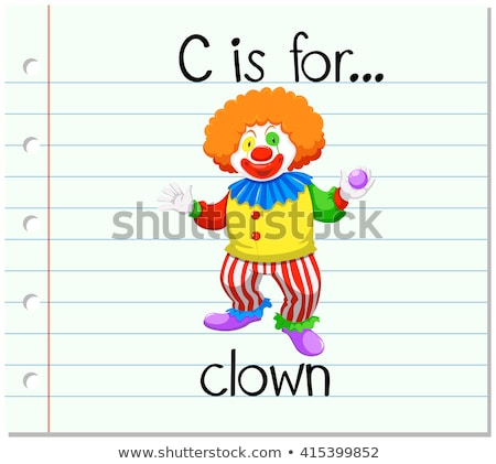 circus · clown · ballonnen · vector · clipart · grappig - stockfoto © bluering