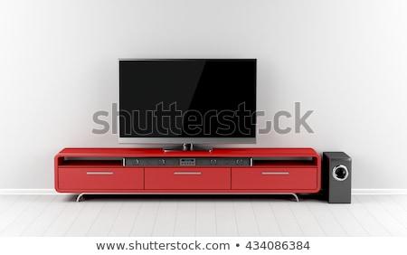телевизор стены музыку телевидение технологий Сток-фото © magraphics