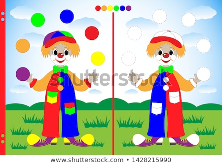Coloring worksheet with a clown Stock photo © bluering