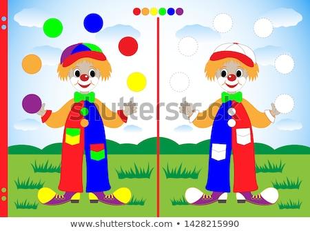 classeur · clown · blanche · papier · design · étudiant - photo stock © bluering