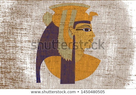 クイーン · エジプト · 肖像 · 顔 · 美 · 赤 - ストックフォト © adrenalina